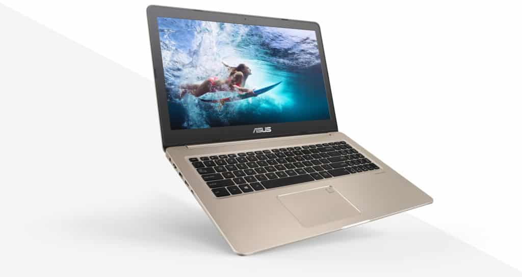 Picture showing the ASUS VivoBook Pro 15 with its keyboard and screen displayed