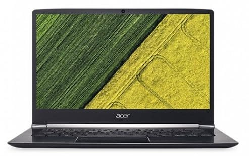 The front view of the Black colored Acer Swift 5 having screen of 14 inches
