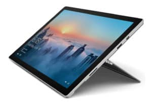 A tilted view of Microsoft Surface Book 2