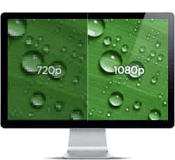 The differences in the screen quality of a 720p and 1080p Screen.